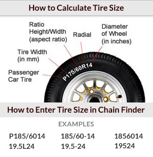 How do i find and enter my tire size